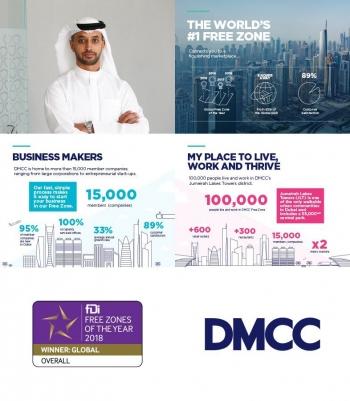 DMCC erhält Global Free Zone Award zum vierten Mal in Folge